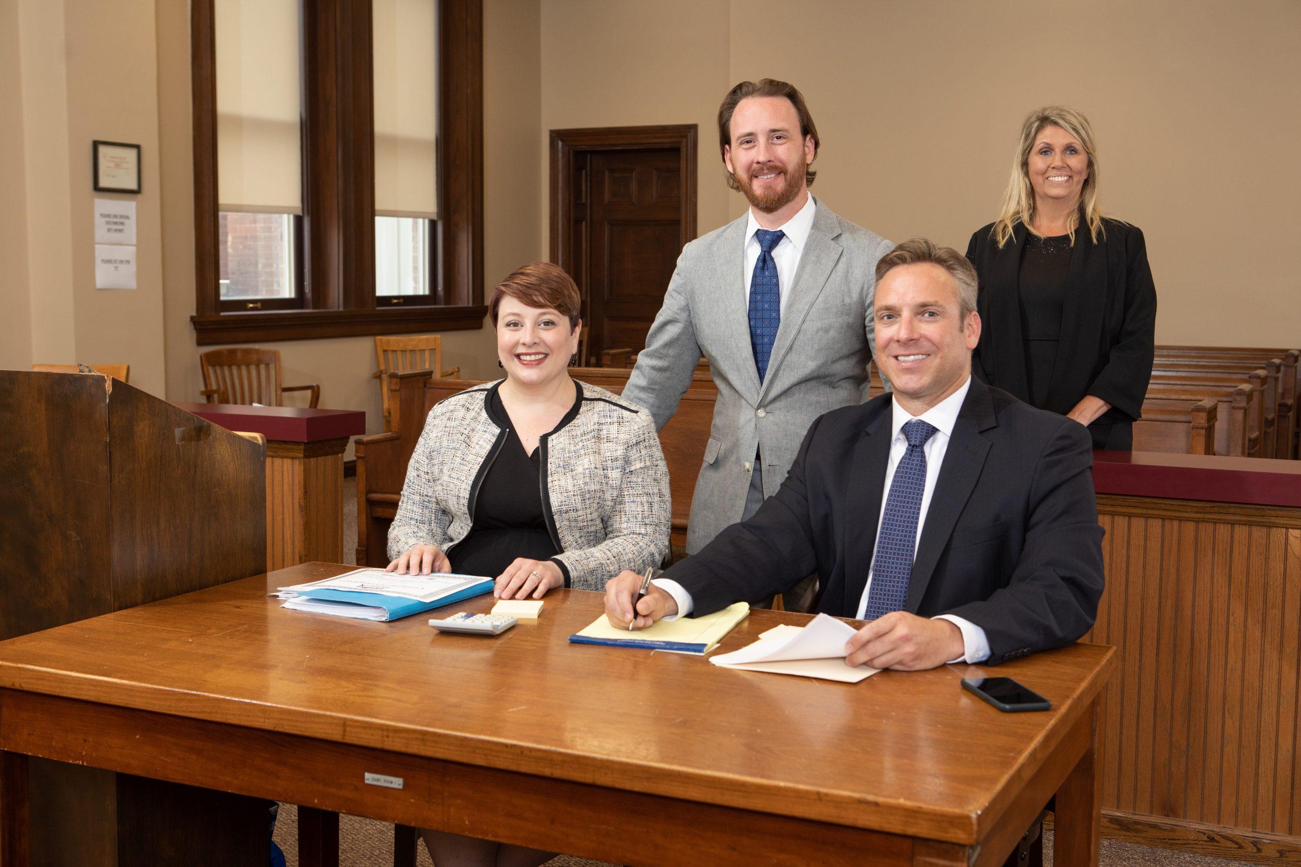 he Barnett Firm Team In Court